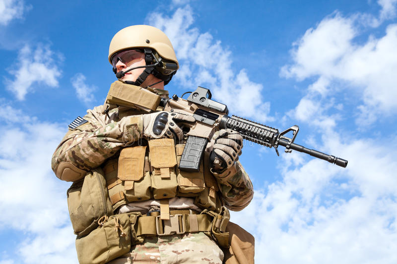 US Army Special Forces Group soldier stock photos