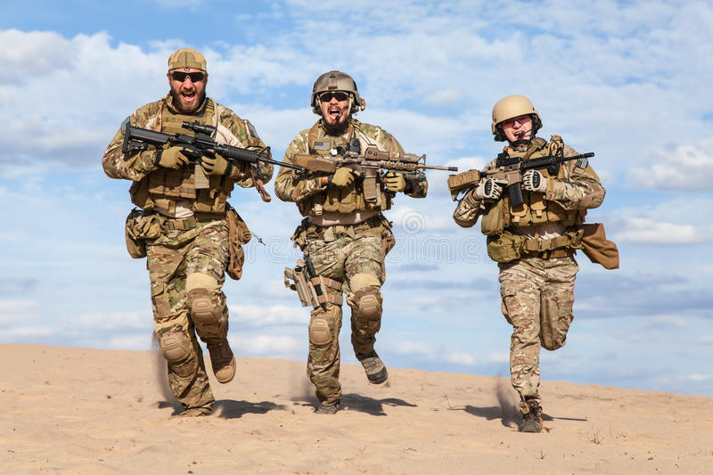 US Army Special Forces Group soldier royalty free stock image