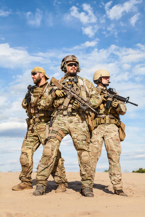 US Army Special Forces Group soldiers stock images