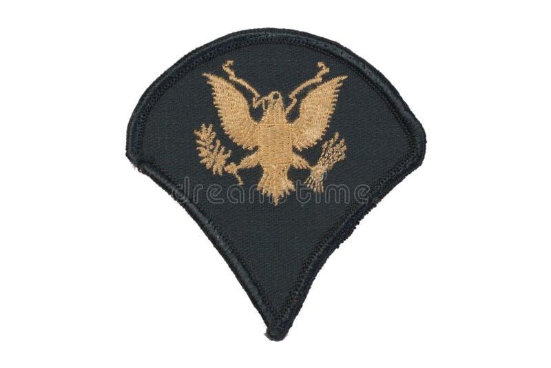 US army uniform badge. Isolated royalty free stock image