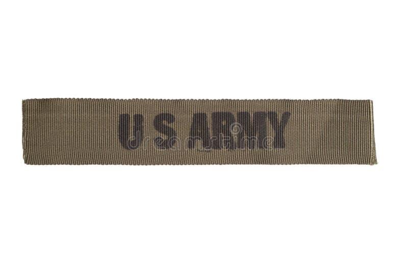 US ARMY uniform badge. Isolated on white stock image
