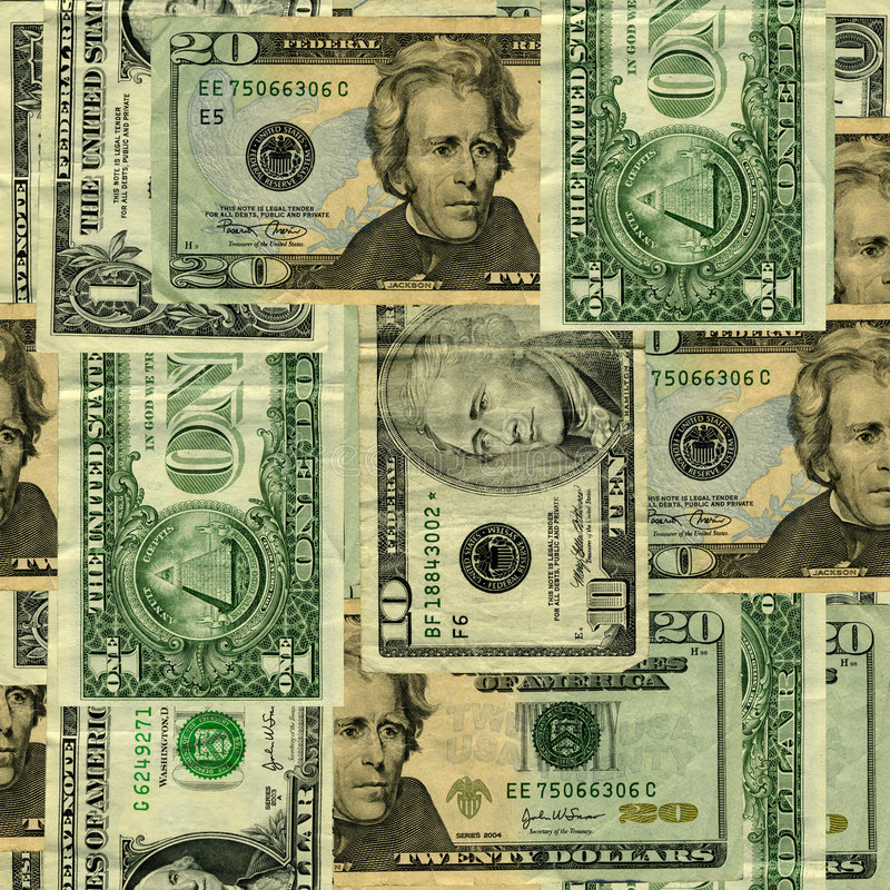 US Banknote Background stock image