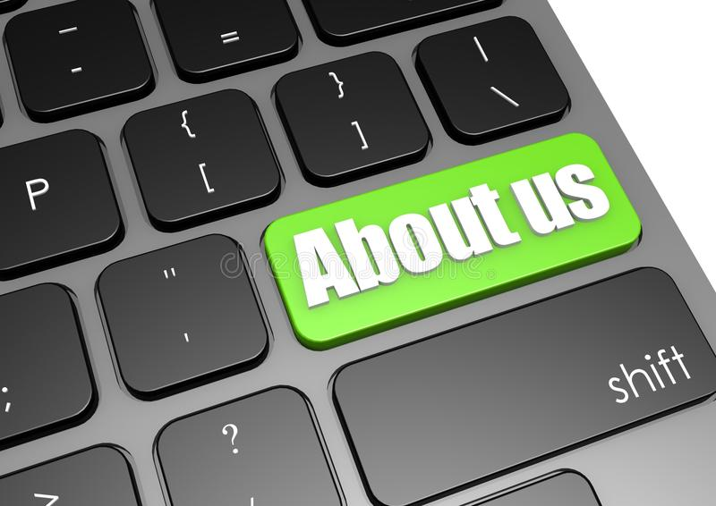 Download About Us With Black Keyboard Stock Illustration - Image: 30904017