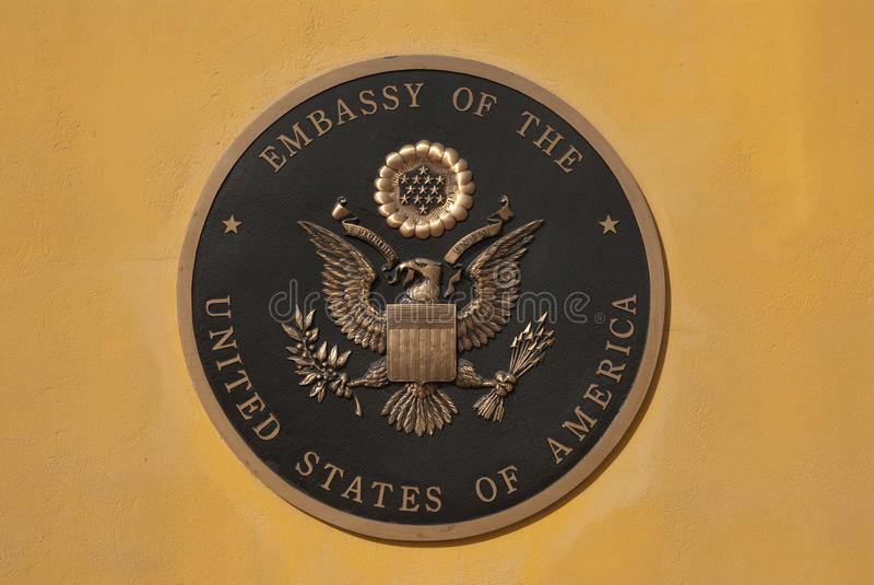 US-Botschaft Kabul stockfotografie
