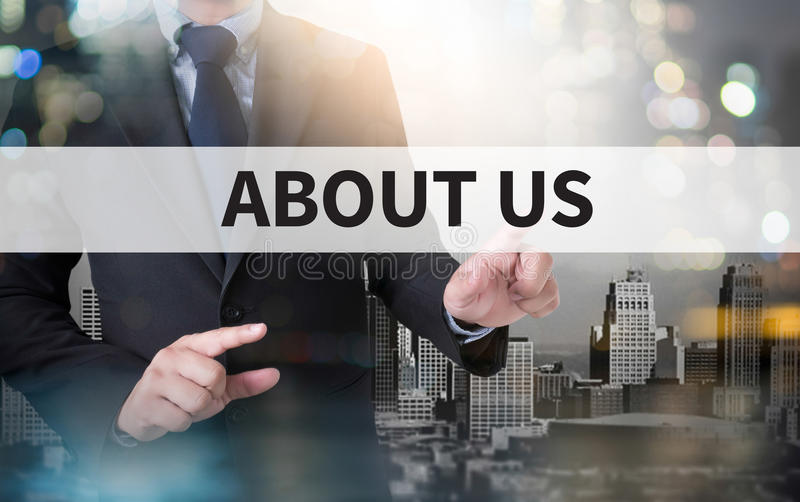 ABOUT US royalty free stock image