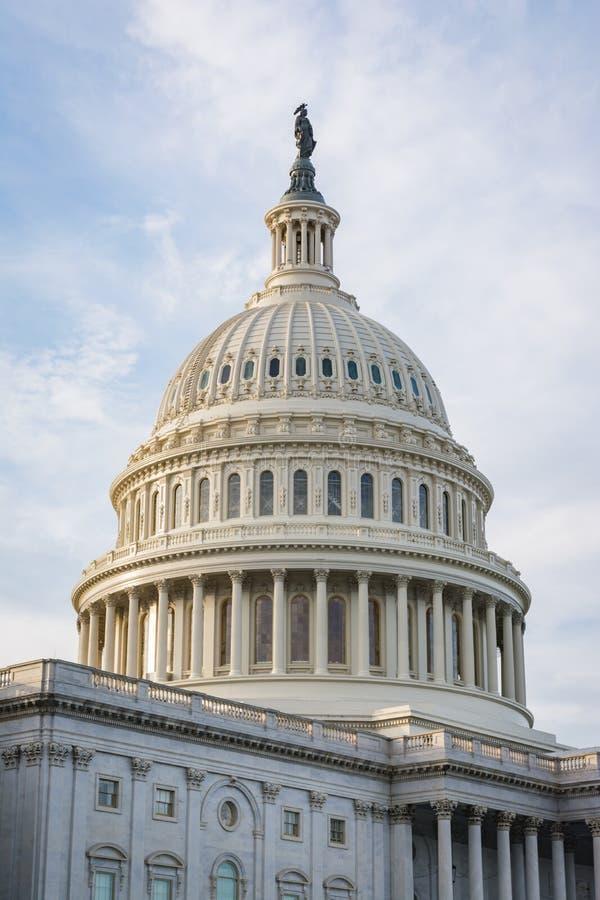 US Capitol Buiding Washington DC Dome Detail Closeup Alone Daylight Shadow Sunshine American Landmark stock photos