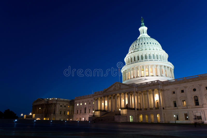 Download US Capitol Building At Night Royalty Free Stock Photography - Image: 33491627