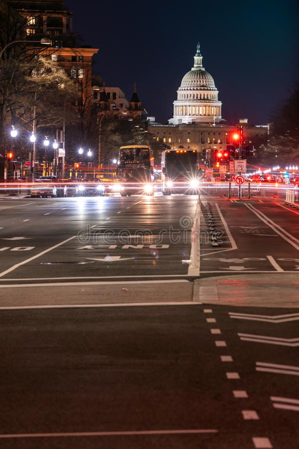 US Capitol Building Sunset stock images