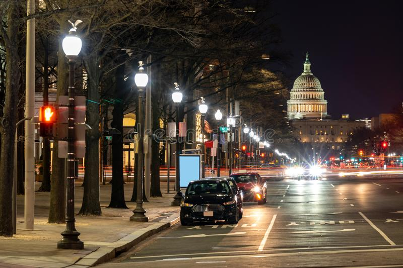US Capitol Building Sunset royalty free stock photo