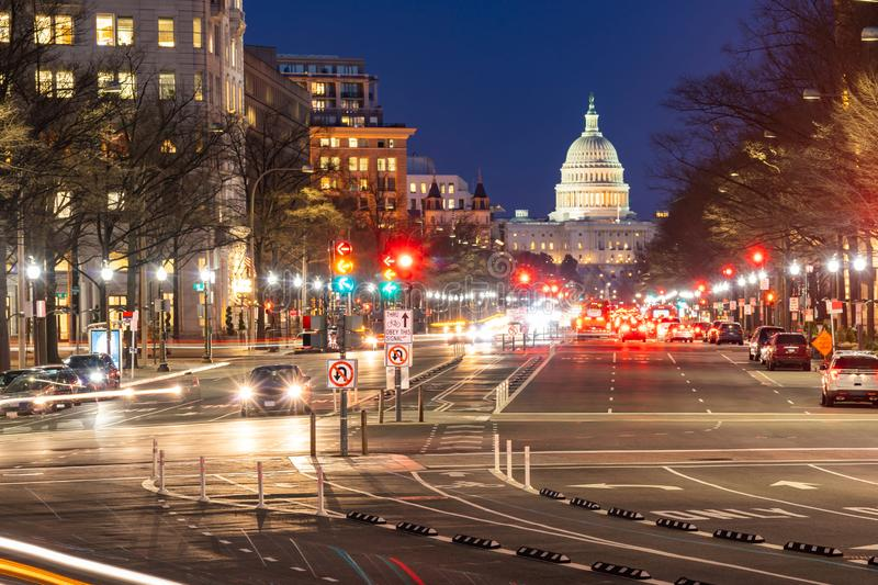 US Capitol Building Sunset royalty free stock photos