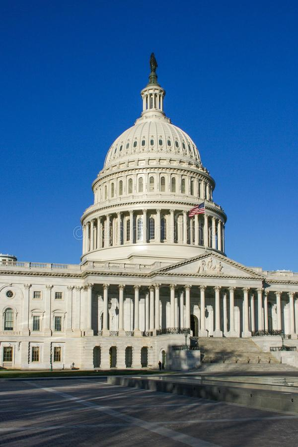 US Capitol building against a blue sky stock photos