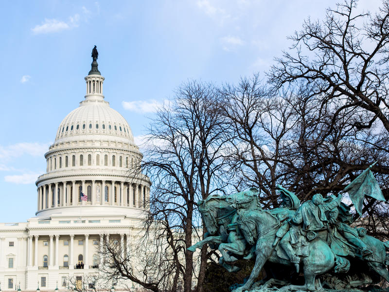Download US Capitol And Statue Royalty Free Stock Images - Image: 29783319