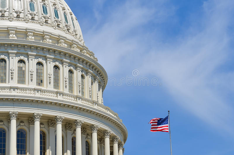 US Capitol dome detail, Washington DC royalty free stock images