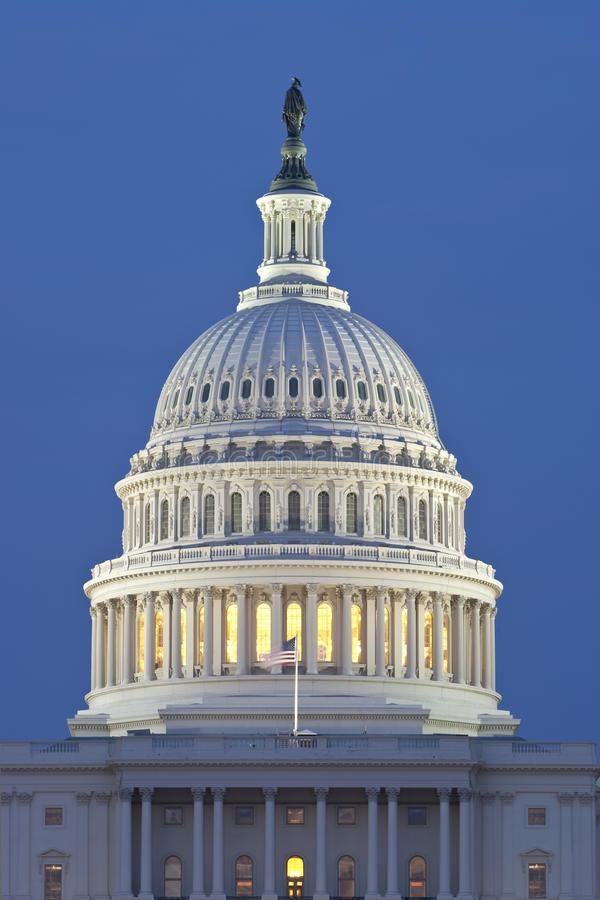 Download US Capitol Dome at Night stock photo. Image of summer - 15936114