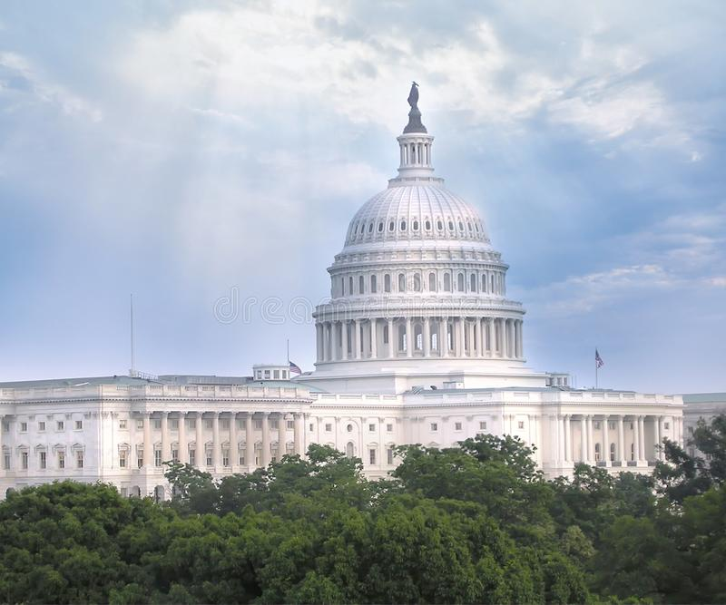 US Capitol dome. US Capitol dome politics and the House of Representatives stock image