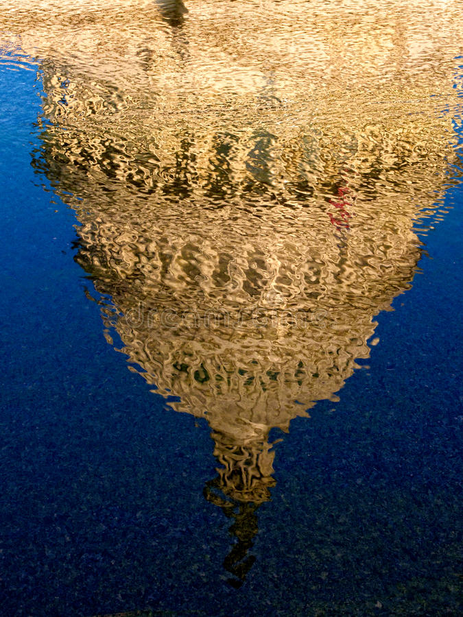 Download US Capitol Dome Reflection stock image. Image of building - 20662997