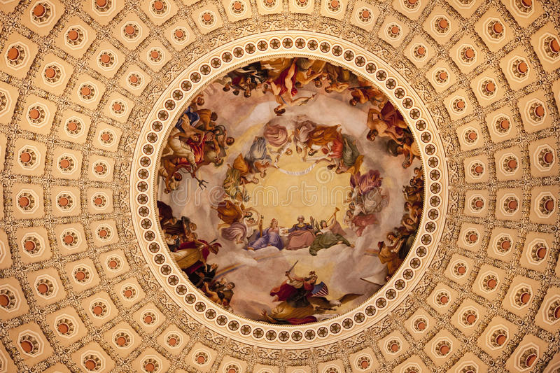Download US Capitol Dome Rotunda Apothesis Washington DC Royalty Free Stock Photography - Image: 12592317