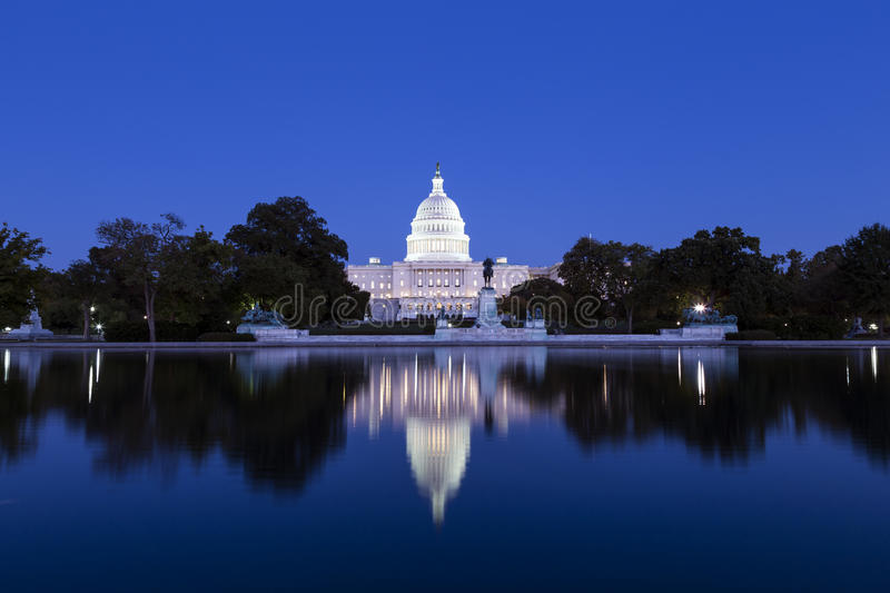 Download US Capitol in the dusk stock image. Image of states, landmark - 36300197