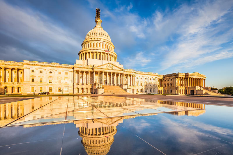 Download US Capitol stock image. Image of city, building, illuminated - 41881549