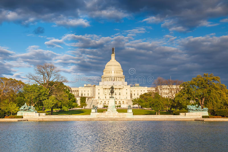 US Capitol At Evening Royalty Free Stock Photography
