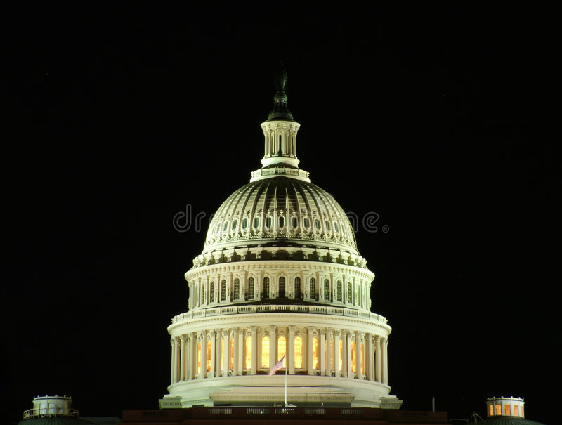 Download US Capitol At Night Stock Photo - Image: 1444650