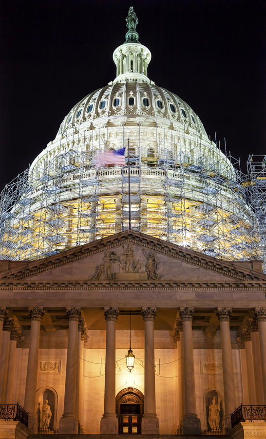 US Capitol North Side Construction Night Stars Washington DC stock photos