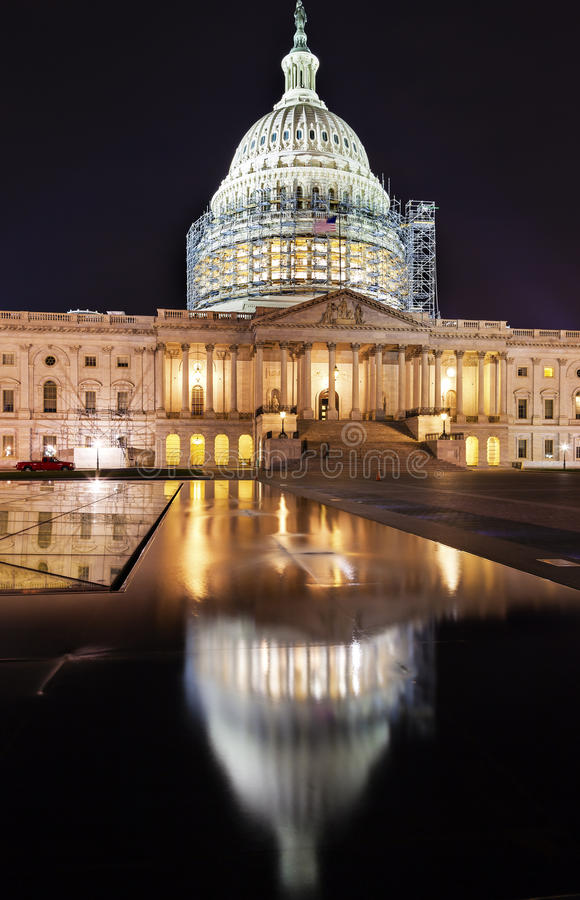 US Capitol North Side Construction Night Stars Washington DC stock images