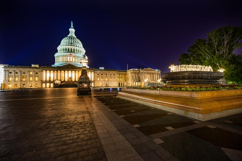 US Capitol North Side Fountain Night Stars Washington DC royalty free stock images