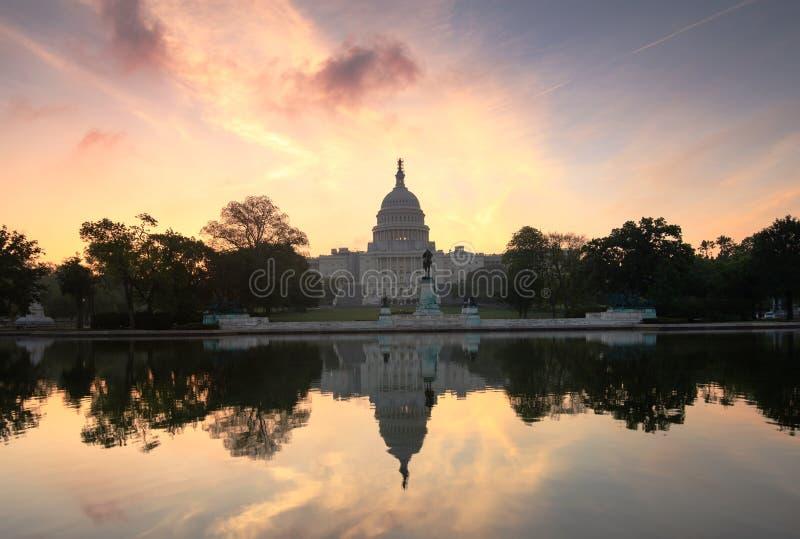 US Capitol Sunrise Washington DC Stock Photography