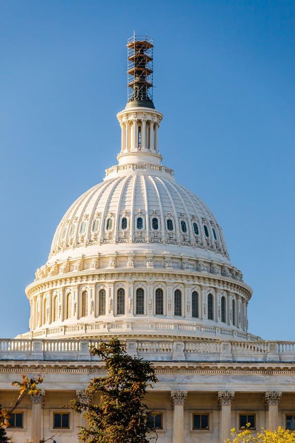 US Capitol, Washington DC. US Capitol over blue sky, Washington DC royalty free stock images