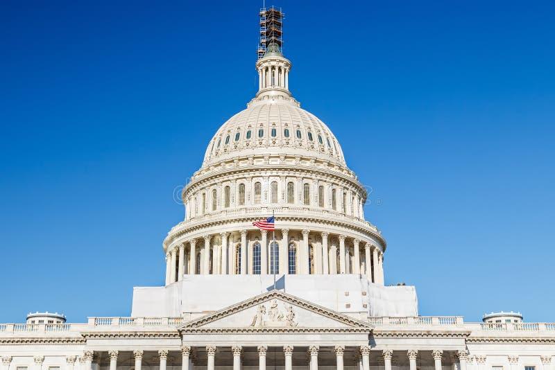 US Capitol, Washington DC. US Capitol over blue sky, Washington DC stock photography