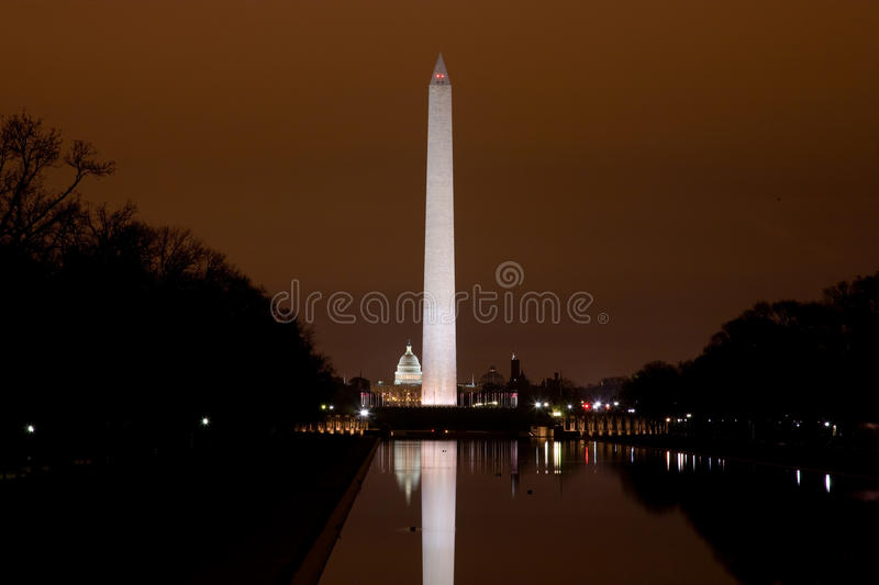 Download US Capitol And Washington Monument In The Darkness Stock Photo - Image: 13649946