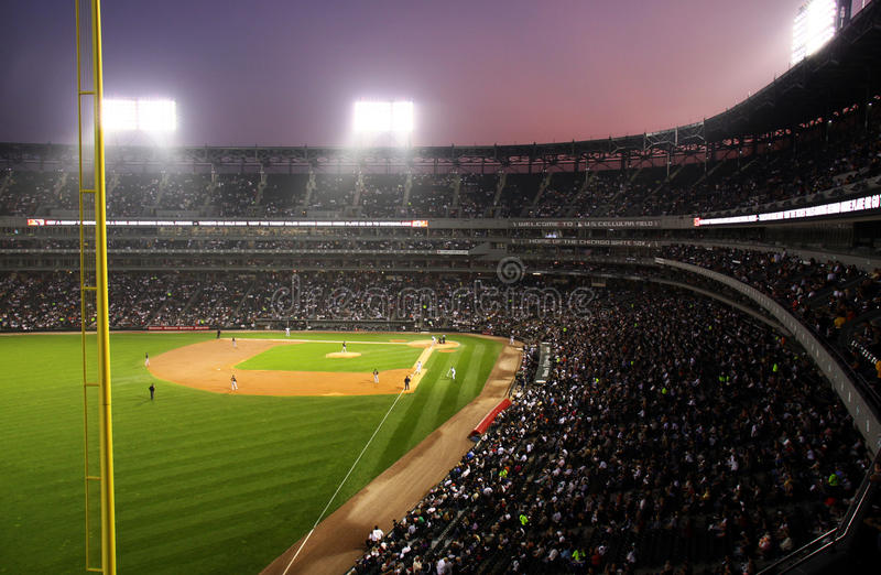 US Cellular Field at Twilight royalty free stock images