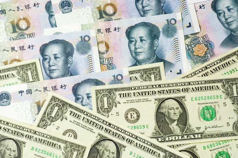 Download US and Chinese currencies stock photo. Image of trade - 2642432