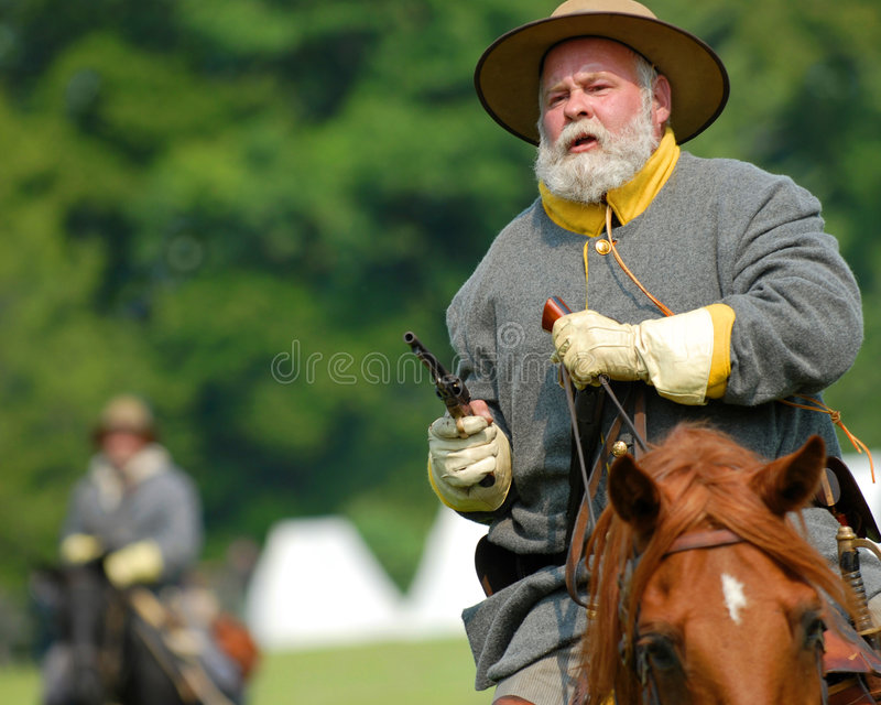 US Civil War cavalry soldier royalty free stock images