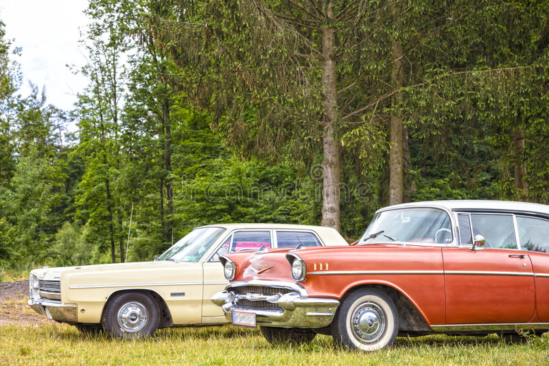 US Classic Cars royalty free stock photography