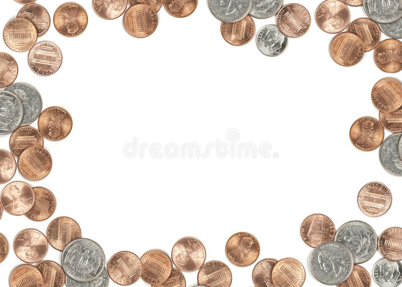 US Coin Currency Border Royalty Free Stock Images