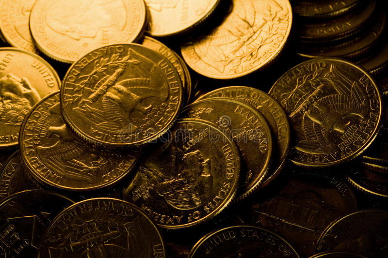 Download US Coins stock image. Image of finance, golden, nobody - 10434547