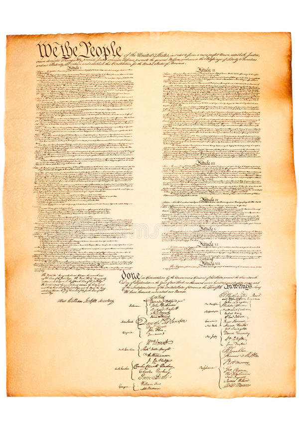 Free US Constitution On Parchment Paper Stock Photo - 15303270