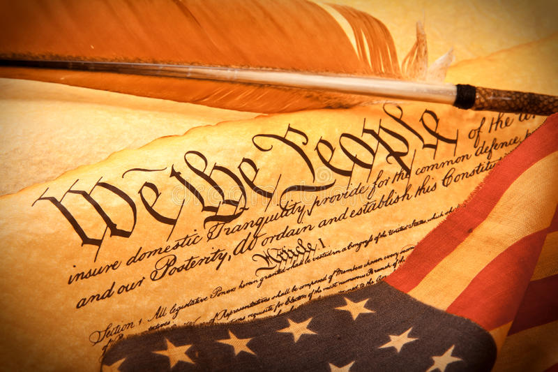 US Constitution - We The People stock photos