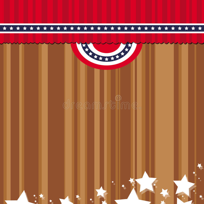 Download US courtain flag stock vector. Image of liberty, national - 21112150