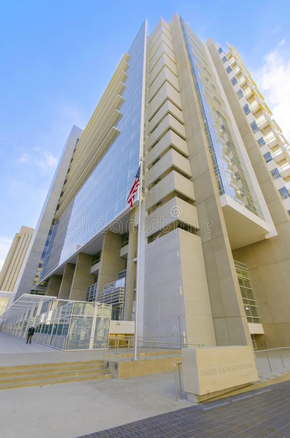 US Courthouse, San Diego. The United States Courthouse, on Broadway, in Downtown San Diego, southern California, United States of America royalty free stock photo