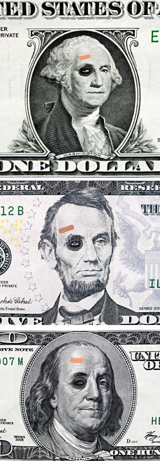 Download US Currency With Black Eyes Stock Image - Image: 16307135
