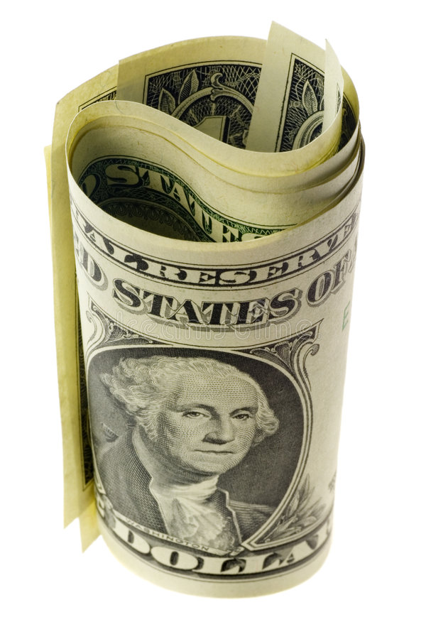 Download US currency rolled stock image. Image of dollar, trade - 3821707