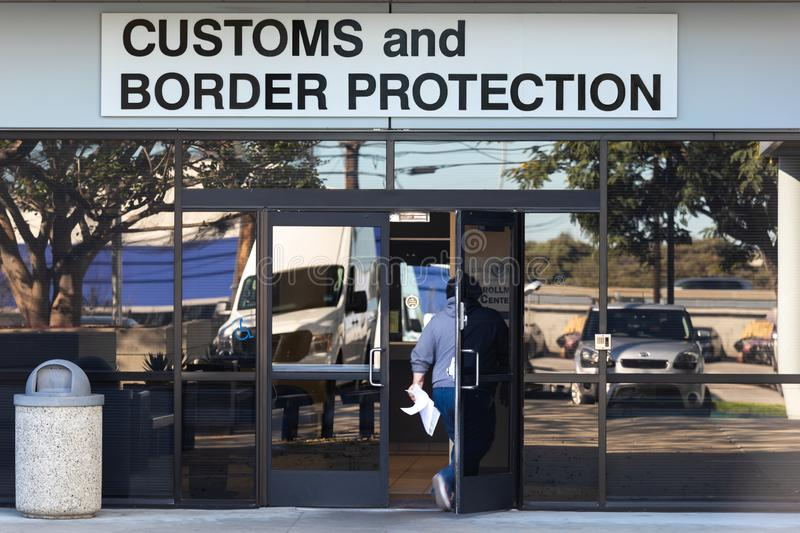 US Customs and Border Protection Office Los Angeles royalty free stock photography