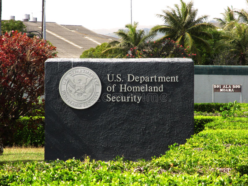 US Department of Homeland Security - Sign royalty free stock images
