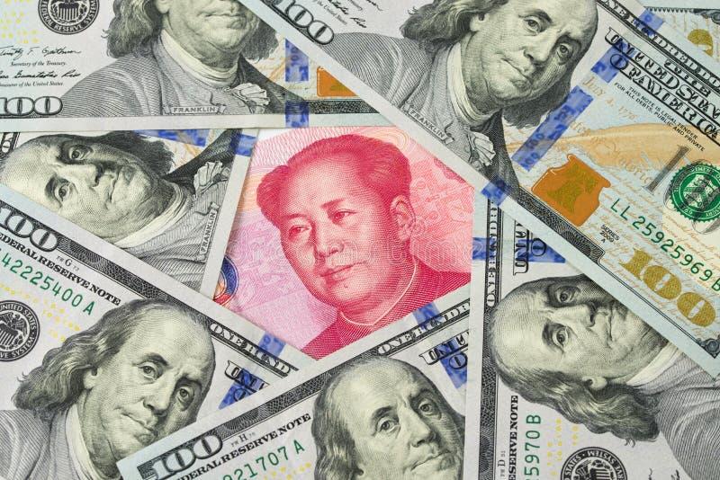 US dollar against China Yuan royalty free stock photography