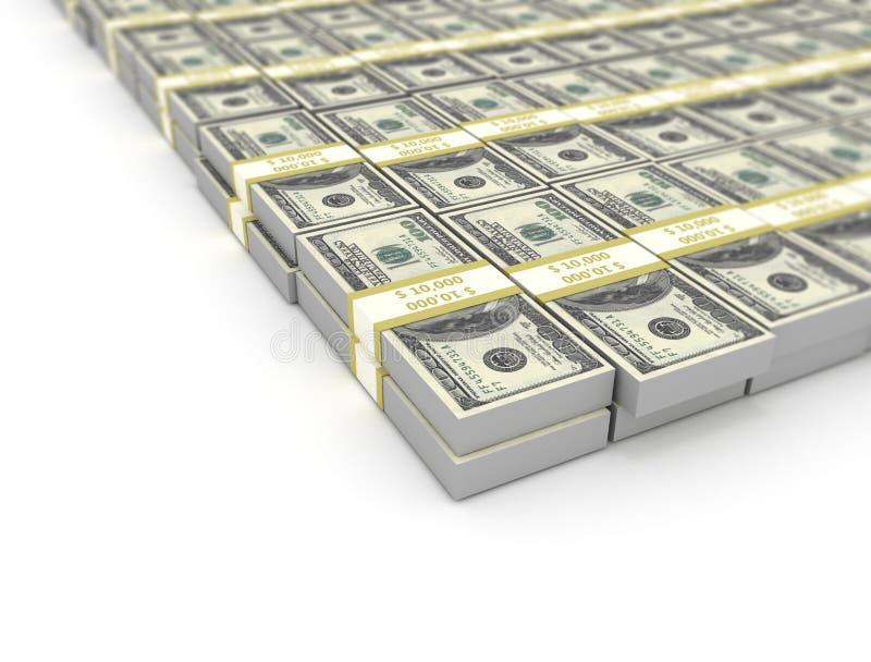 US dollar bills large group royalty free stock image
