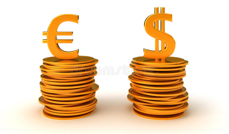 Download US Dollar And Euro Currency Equation Stock Image - Image: 16501881