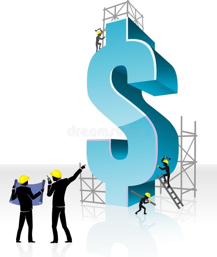 US-Dollar Geld-Erbauer vektor abbildung
